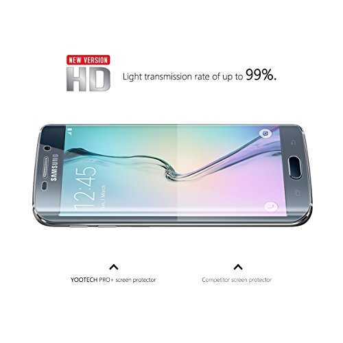 Galaxy S6 Edge Screen Protector,Yootech [2-Pack] Samsung Galaxy S6 Edge Screen Protector, Premium HD Clear Film with Free Lifetime Replacement Warranty by yootech (Image #2)