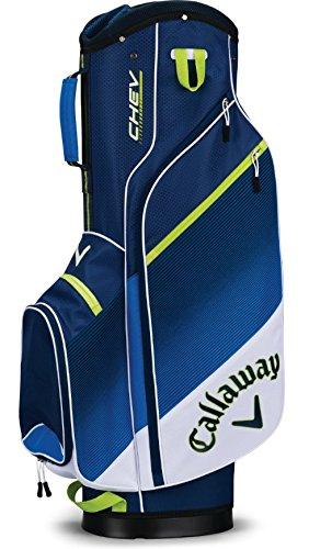 CallawayゴルフカートバッグChevカートバッグホワイト/ブルー/ネオングリーン B077SP2X66