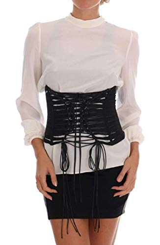 Dolce & Gabbana Black Stretch Corset Belt