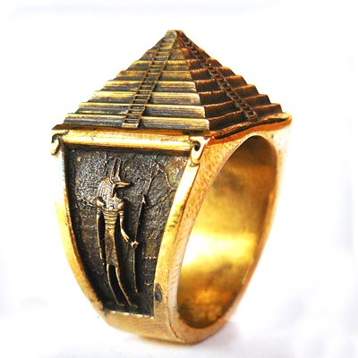 Pyramid Ring - Free Mason Great Pyramid Ring (Br-010)
