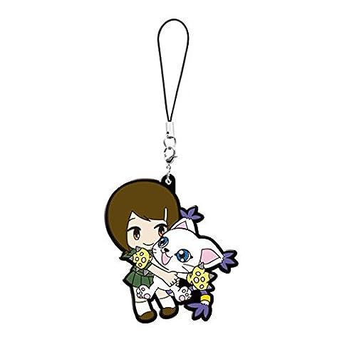 Digimon Adventure Tri: Yagami Hikari and Gatomon Tailmon Pvc Keychain (Digimon Tailmon)