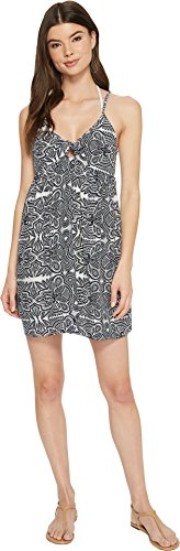 (Roxy Junior's Good Surf Only Coverup Dress, Marshmallow Tribal Vibes Strip, M)