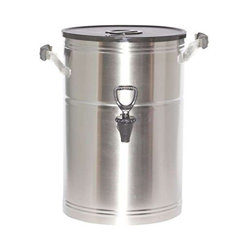 Service Ideas ITS3GPL Round Tea Urn, 3 Gallon (384 oz.), Brushed Stainless ()