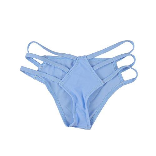 オピエート輝度刺激するWINOMO レディースビキニ  女性ファッションバンデージ水着 パンツパンティー ビキニ水着 - サイズXL(ライトブルー)