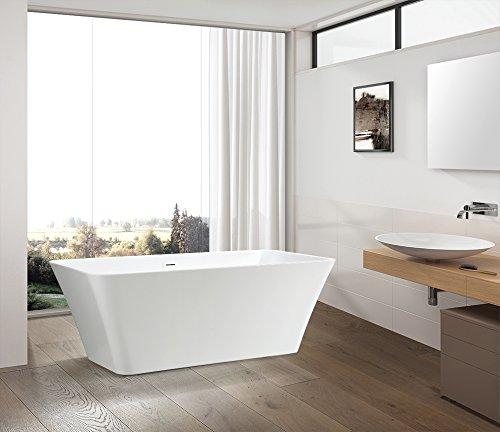 Vanity Art Free Standing Acrylic Bathtub 66.9''Wx29.5''Dx23.6''H VA6820 by Vanity Art