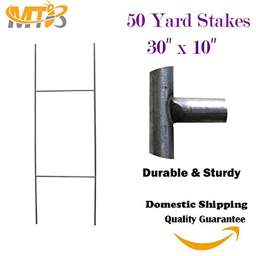 """H Frame Wire Stakes 30""""x10"""" (Pkg of 50) 9ga wire - Yard S..."""