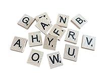500のセット+ 100フリー木製Scrabbleタイル文字with 1ラックホルダーセットボードゲーム、壁の装飾& Arts and Craftsの商品画像