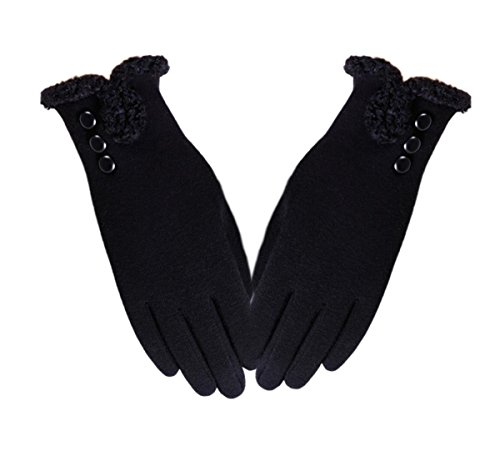 Iuway Women's Touch Screen Gloves Fleece Lined Thick Warmer Winter Texting Gloves