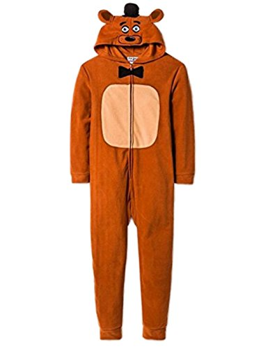 Five Nights at Freddy's Big Boys One Piece Hooded Fleece Union Suit (XL (14/16))