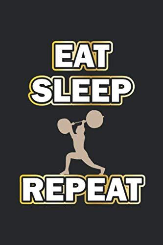 Eat Sleep Repeat: Monatsplaner, Termin-Kalender | Geschenk-Idee für Bodybuilder | A5 | 120 Seiten por D. Wolter
