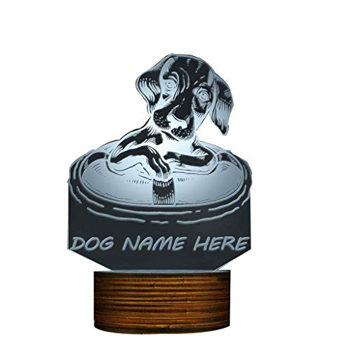 Novelty Lamp, Dachshund Dog with A Life Buoy 3D Night Light, Creative Table Lamp LED Illuminated Display with Remote Contolled Pet Lovers Gift Idea,Ambient Light by LIX-XYD (Image #9)