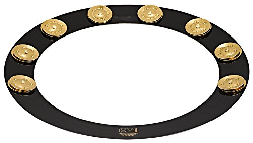 "Meinl Percussion Backbeat Pro 14"" Brass Hoop Tambourine with Brass Jingles for Snare Drums, TWO YEAR WARRANTY (BBP14)"