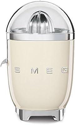 SMEG Exprimidor CJF01CREU, 70 W, Acero Inoxidable, Crema: Amazon ...