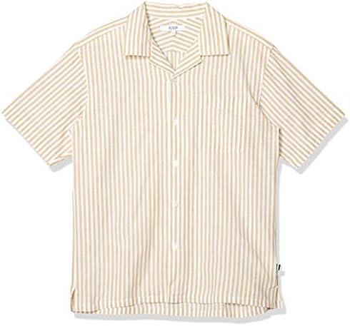 WOVEN SHIRTS 吸水速乾 スレイプ ストライプ 半袖シャツ メンズ