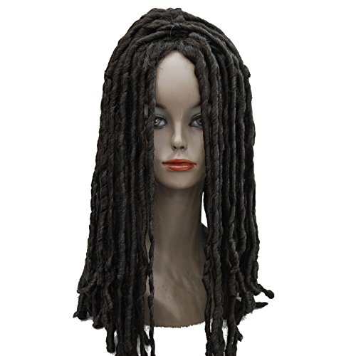 Lydell Twist Hair Crotchet Braids Wigs Synthetic Dreadlocks Braids Hair Wig (4# Dark Brown) (Brown Dreadlock Wig)