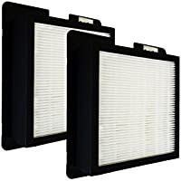 2 Pack HEPA Filter for Living Air Classic Xl-15 and Fresh Air Ecoquest by Homeland Goods