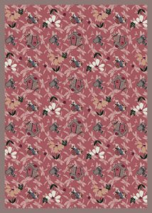 (Joy Carpets Kaleidoscope Flower Garden Whimsical Area Rugs, 92-Inch by 129-Inch by 0.36-Inch,)