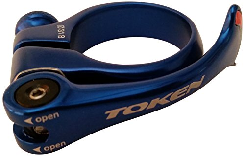 Token Products Shark Tail Seat Clamp, Blue by Token