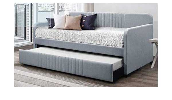 Amazon.com: Daybed Frame Twin - Light Blue Polyester ...