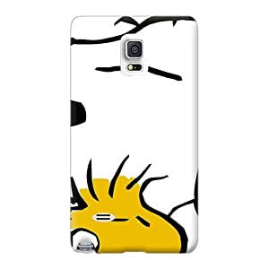 Perfect Hard Phone Covers For Samsung Galaxy Note 4 With Support Your Personal Customized High-definition Snoopy And Woodstock Series LeoSwiech