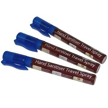 3 X Antibacterial Hand Sanitiser Travel Spray Pens Amazon Co Uk