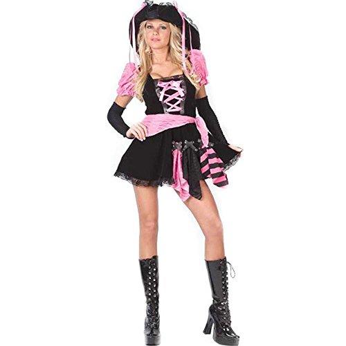 Teen Pink Punk Pirate Halloween Costume (Size: Teen -