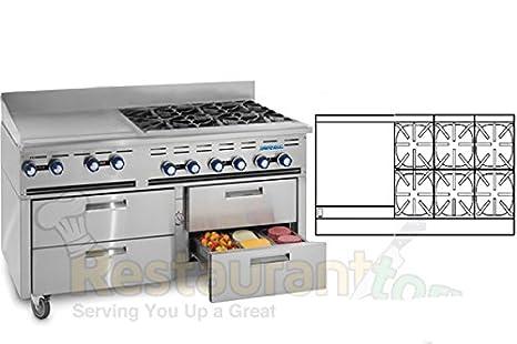 Amazon.com: Imperial Comercial gama Refrigerados Base System ...