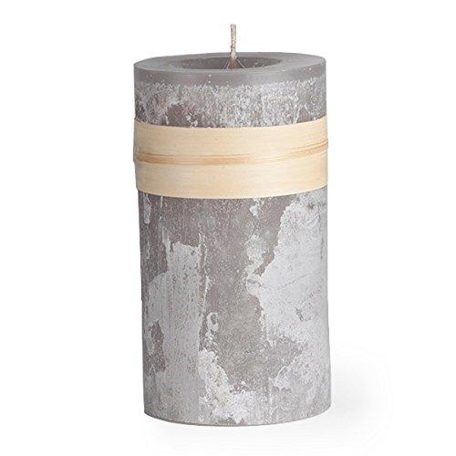 (Smoky Gray Timber Collection Pillar Candle (3.25x9))