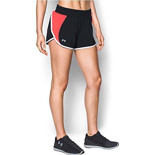 Under Armour Women's Endeavor Short, Black/Marathon Red, - Liner With Running Women's Shorts
