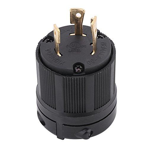 NEMA L6-30P 30 Amp 250 Volt Twist Lock Male Plug USA 3 Pole Industrial Grade Grounding 3-Prong Power Generator Plug - 3 Prong Twist