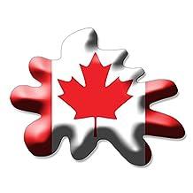 Canada SPLAT Shaped Sticker (funny Canada Canadian flag)
