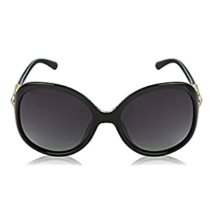 Black Sunglasses For Women Oversized Polarized Sunglasses Butterfly Framed Gold