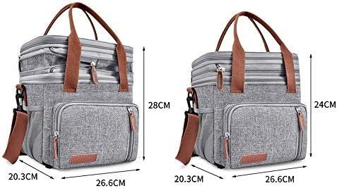 nbrand Borsa a tracolla portatile per conservare il freddo a doppio strato di grande capacità picnic pack ghiaccio all'aperto picnic