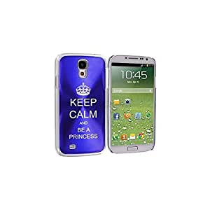 Blue Samsung Galaxy S4 S IV i9500 Aluminum Plated Hard Back Case Cover KK228 Keep Calm and Be A Princess by ruishername