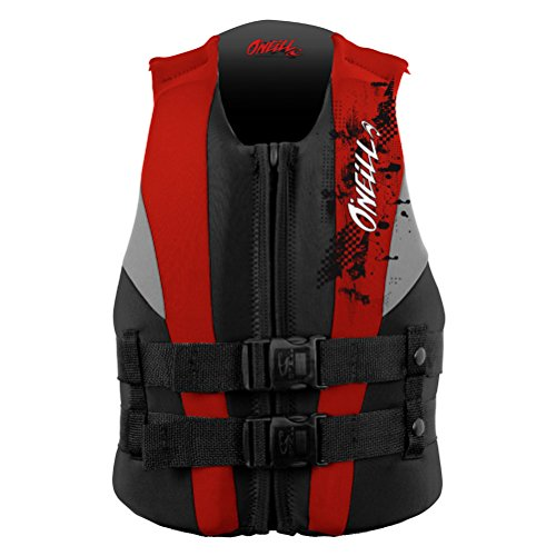 O'Neill Youth Reactor USCG Life Vest, Coal/Red/Flint, for sale  Delivered anywhere in USA