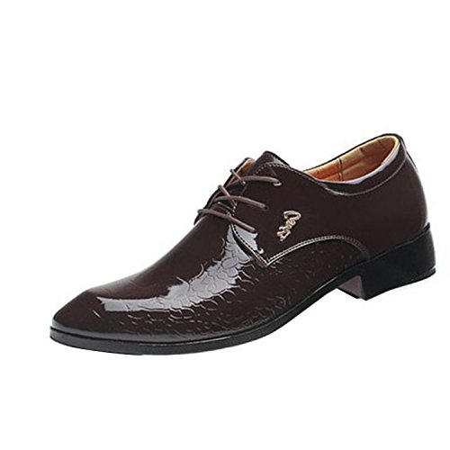 Wine UPS Gaorui Lace Men's Business Shoes Shoes Red Wedding 0wOTwU