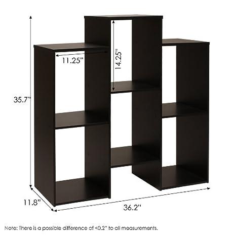 Furinno 12221BK Parsons escalonada Cubo estanter/ía con 6/estantes Color Negro
