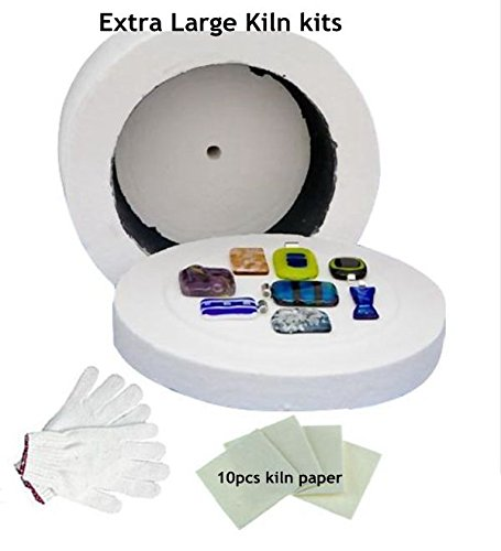 Cheapest 3pcs Large Kiln kits-1pc Large Microwave Kiln 1 Pair of Gloves and 10pcs Kiln - Glasses Cheapest Frames