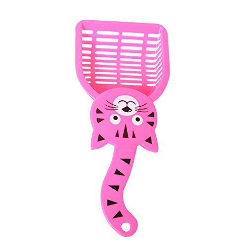 Fewear Cat Litter Scoop, 1-Minutes to Clean a Litter Box, Easy sifting with Anti-Scatter Sides, Best Litter Cleaning Tool, Plastic Cat Litter Scoop and Sifter with Hanger Hole (Pink)