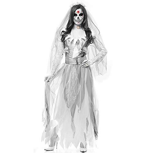 Halloween Dead Body Bridal Costume Women Long Dress