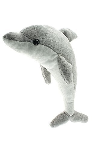Dolphin Plush Stuffed Animal (Cute Small Dolphin, 15 Inch Stuffed Animal, Kids Dolphin, Adorable Dolphin Present or Dolphin Party Gift, Pillow Soft And Cuddly Fun Dolphin Toy, Cheap Fun For Kids.)