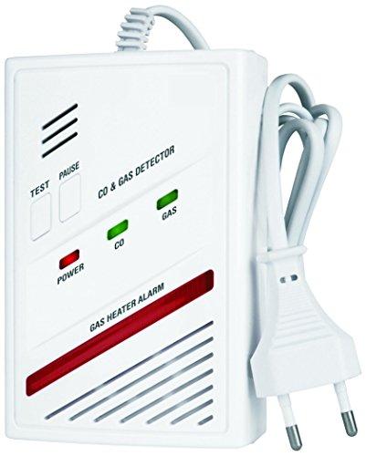 Smartwares 2-in-1 Kombi-Detektor, Kohlenmonoxid- und Gas-Melder (Butan, Propan, Methan), RM337 SW