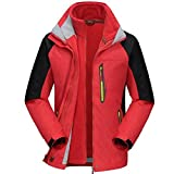 Ausom Fashion Autumn Winter Outdoor Three-in-one Couple Two-piece Mountaineering Ski Jacket