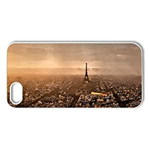Paris - Case Cover for iPhone 5 and 5S (Watercolor style, White)