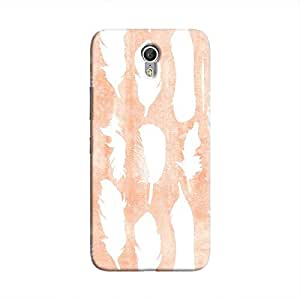 Cover It Up - White Feather Pink Zuk Z1 Hard Case