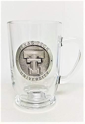 - Texas Tech University Pewter Emblem on Glass Stein