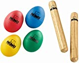 Nino Percussion NP-1 Claves and Egg Shakers Percussion Pack, Set
