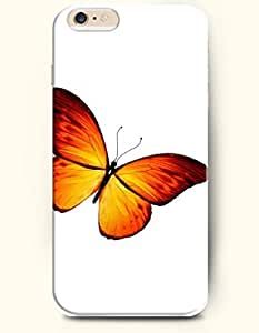 OFFIT iPhone 6 Plus Case 5.5 Inches Orange Butterfly