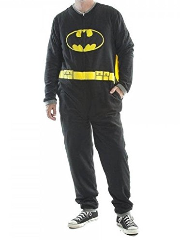 Mens Batman Fleece M Pajamas Adult Footie Union Suit One Piece