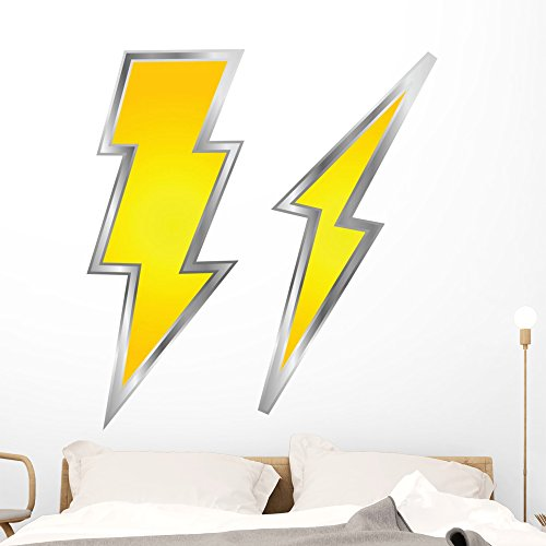 Wallmonkeys Lightning Bolts Wall Decal Peel and Stick Graphic (48 in H x 48 in W) WM203292 ()